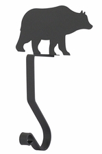 Stocking Hanger, Mantel Hook, Bear, Wrought Iron