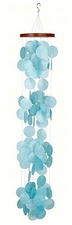 Capiz Shell Wind Chime, Azure Waterfall, Woodstock Chimes