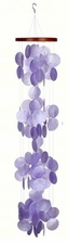 Capiz Shell Wind Chime, Violeta (Violet / Purple) Waterfall, Woodstock Chimes