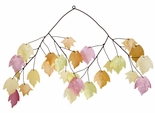 Capiz Wind Chime, Autumn Leaves