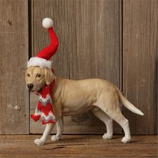 Christmas Decoration, Labrador, Lab in Santa Hat
