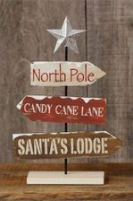 Christmas Decoration, Tabletop Sign