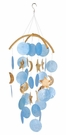 Dark Blue Capiz Shell Wind Chime, Coconut Moons & Stars