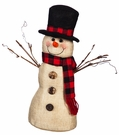 Fabric Snowman Tabletop Christmas Decoration, Vintage Style