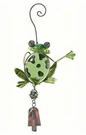 Frog Bell Wind Chime, Glass & Metal