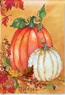 Garden Flag, Autumn/Fall, Pumpkins, Orange  & White / Ghost Pumpkins