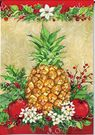 Garden Flag, Christmas Holiday Pineapple, Welcome