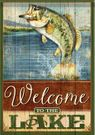Garden Flag, Fishing, Welcome To The Lake, Double Sided