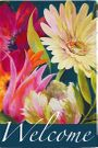 Garden Flag, Floral Fanfare, Spring, Summer Flowers, Welcome
