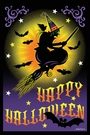 Garden Flag, Halloween, Flight of the Witch