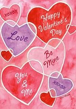 Garden Flag, Valentine's Day Messages, Conversation Hearts