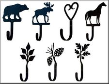 DECORATIVE WALL HOOKS, Wrought Iron