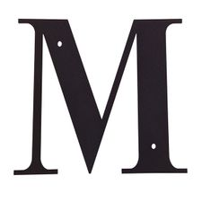 Letter M, 12 Inch, Wrought Iron, Metal