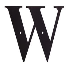 Letter W, 6 Inch, Wrought Iron, Metal