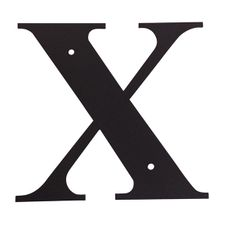 Letter X, 6 Inch, Wrought Iron, Metal