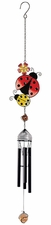 Ladybugs Mini Wind Chime, Metal, Wireworks