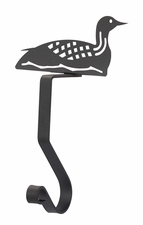 Stocking Hanger, Mantel Hook, Loon / Duck, Wrought Iron