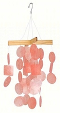 Mini Capiz Wind Chime, Coral
