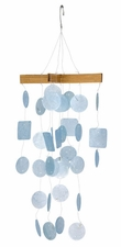Mini Capiz Wind Chime, Light Blue