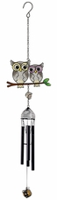 Owls Mini Wind Chime, Metal, Wireworks