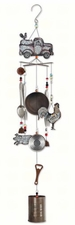Rustic Red Truck Wind Chime, Rooster, Pig, Farm, Country