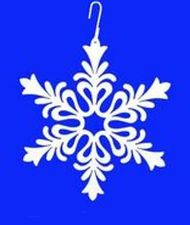 Showflake, Floral Design Silhouette, Hanging Art, White, Wrought Iron