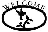 Welcome Sign, House Plaque, Hummingbird, Wrought Iron