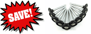 10 Hi Tech Poly Quiet Rollers Rust ResistantBearingless Never Needs LubricationReduces noise level by 75%