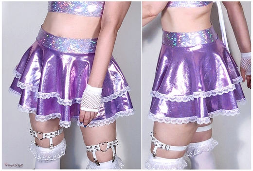 Lilac Iridescent Skirt