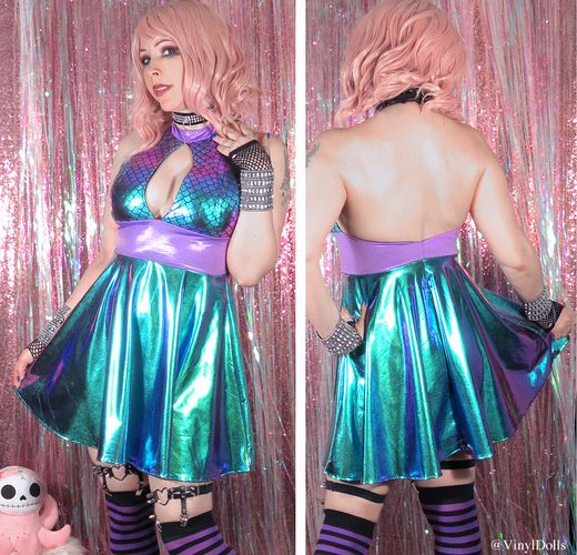 Oil Slick Holographic Mermaid Dress