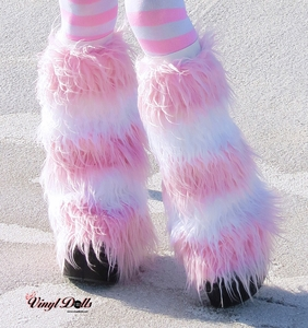 Pastel Pink White Fluffies