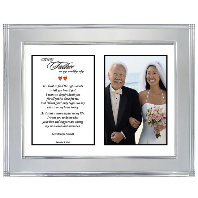 Father Daughter Wedding Picture Frames Image Decor And Frame
