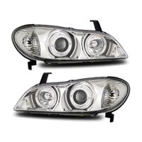 00-01 Infiniti I30 [Halogen Model] Halo Projector Headlights - Chrome