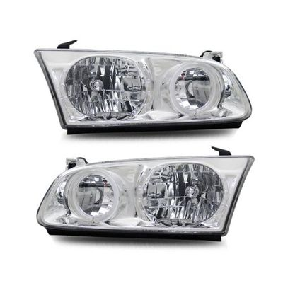 00-01 Toyota Camry Angel Eye Halo Crystal Headlights - Chrome
