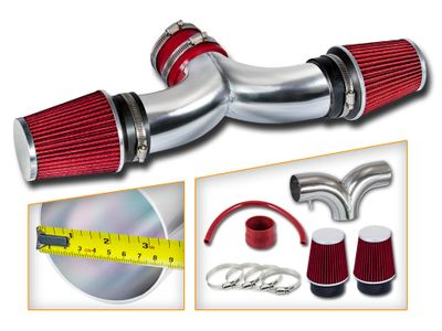 00-02 Dodge Durango / Dakota 3.7 / 4.7 Dual Air Induction Intake Kit - Red Filter
