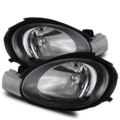 00-02 Dodge Neon Euro Style Crystal Headlights + Bumper Lens - Black