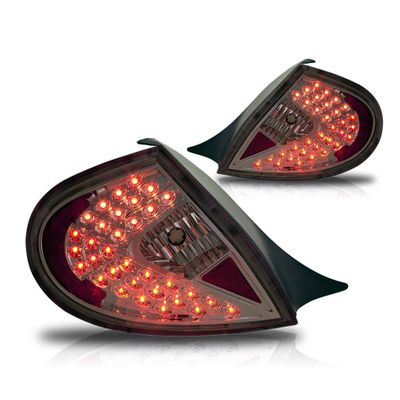 00-02 Dodge Neon Euro Style LED Tail Lights - Chrome / Smoked