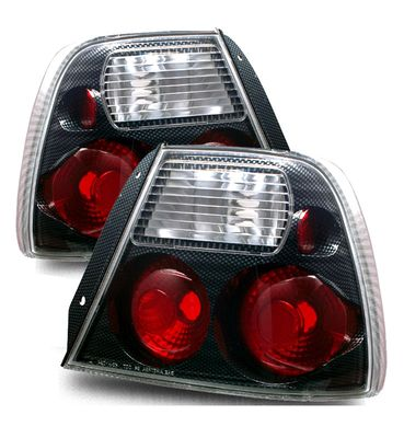 00-02 Hyundai Accent Euro Style Altezza Tail Lights - Carbon Fiber