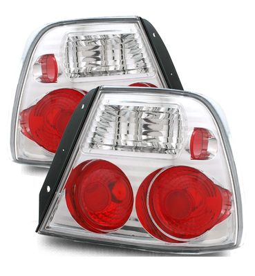 00-02 Hyundai Accent Euro Style Altezza Tail Lights - Chrome