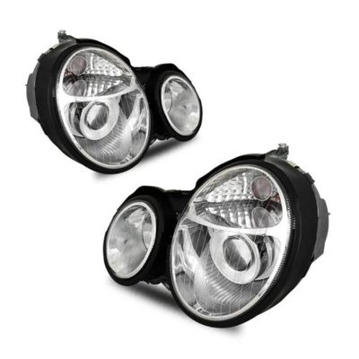 00-02 M-Benz W210 [US Model] E-Class Projector Headlights - Chrome