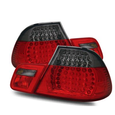 00-03 BMW E46 3-Series Convertible Model LED Performance Tail Lights - Red / Smoked