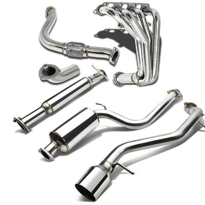 "00-04 Ford Focus 4.5""Tip Muffler Catback / Cat Back + Downpipe + Header Exhaust"