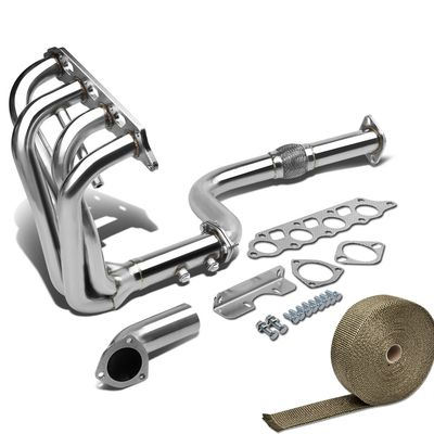 00-04 Ford Focus Zetec Zx3 / 5 Stainless Racing Manifold Long Tube Header Exhaust + Heat Wrap