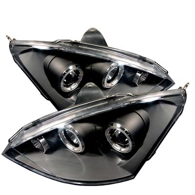 00-04 Ford Focus ZX3 ZX5 Dual Halo Projector Headlights - Black