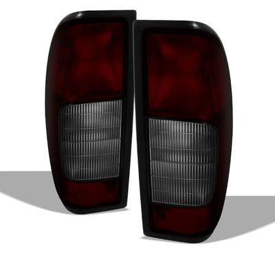 00-04 Nissan Frontier OEM Style Replacement Tail Lights Pair - Smoked