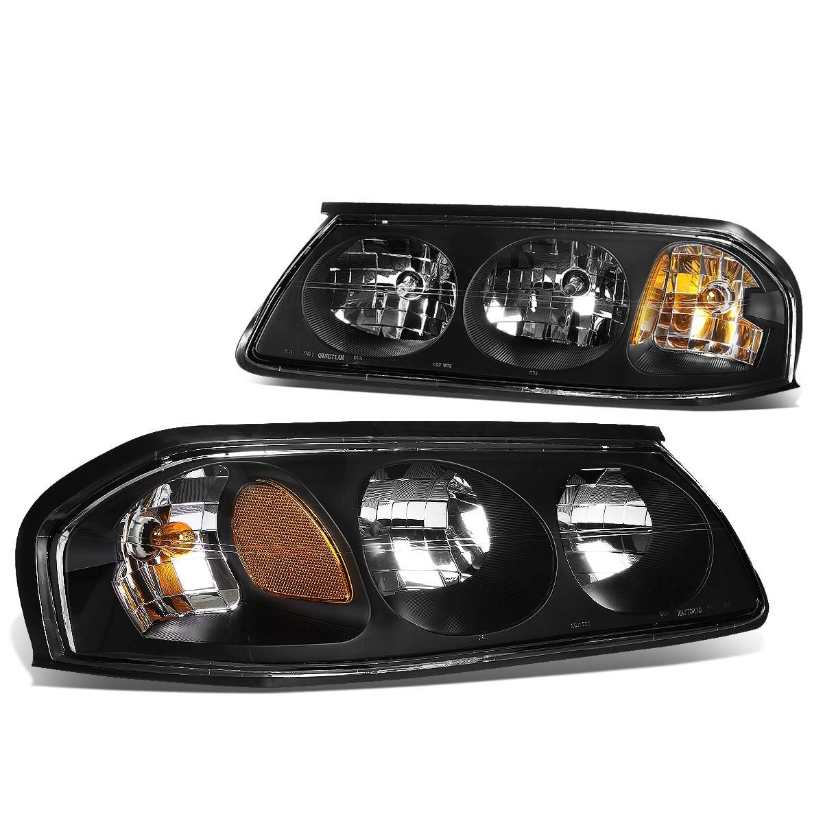 Chevy Impala Euro Style Replacement Headlights Set Black Click To Enlarge