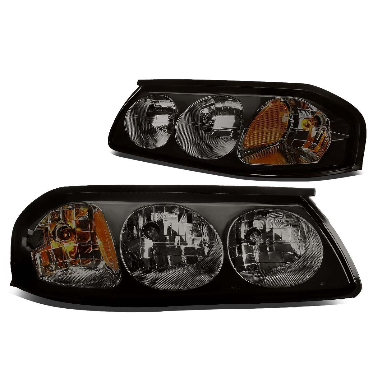 00 05 Chevy Impala Euro Style Replacement Headlights Set Smoked Click To Enlarge