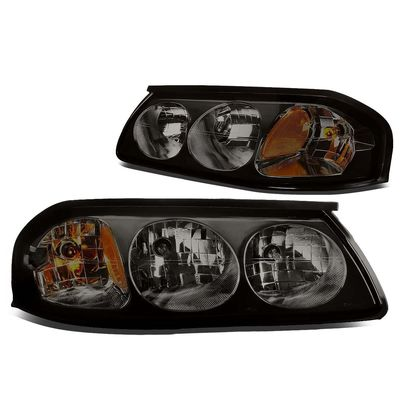 00-05 Chevy Impala Euro Style Replacement Headlights Set - Smoked