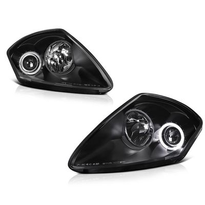 00-05 Mitsubishi Eclipse Angel Eye Halo Projector Headlights - Black
