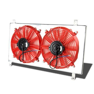 00-05 Mitsubishi Eclipse GTS 6G72 Aluminum 10-Blade Racing Radiator Fan Shroud - Red